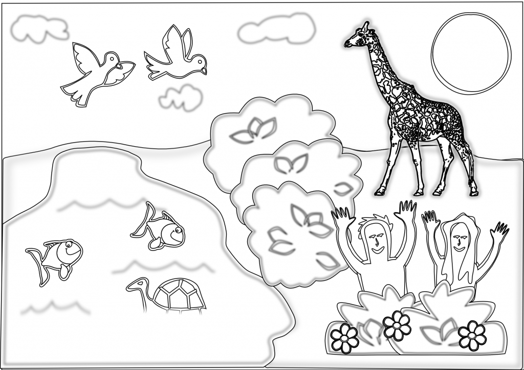Eden - Creation Coloring Pages