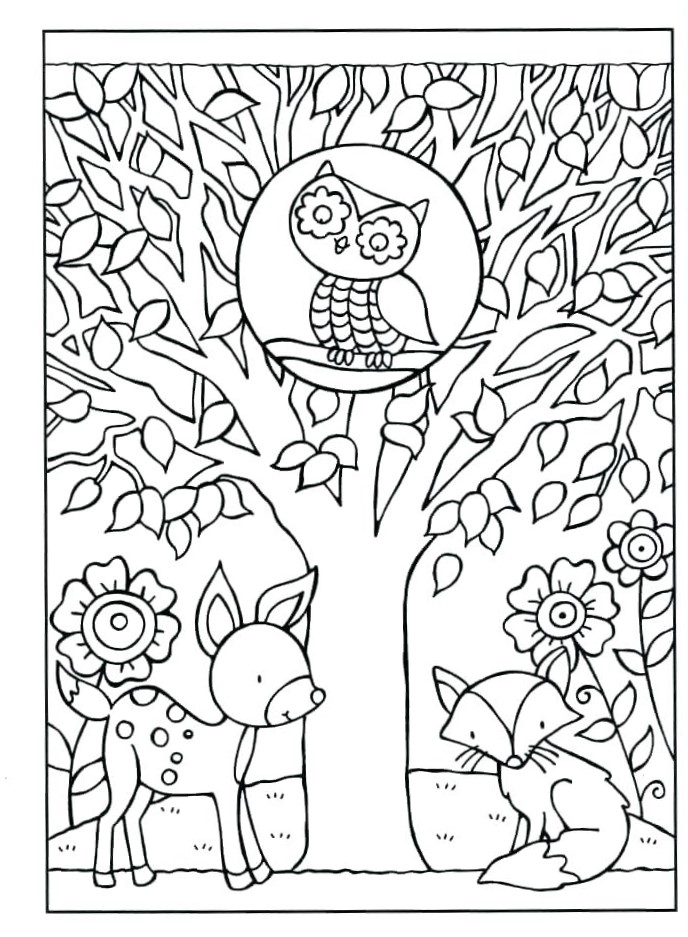 Fall September Coloring Pages