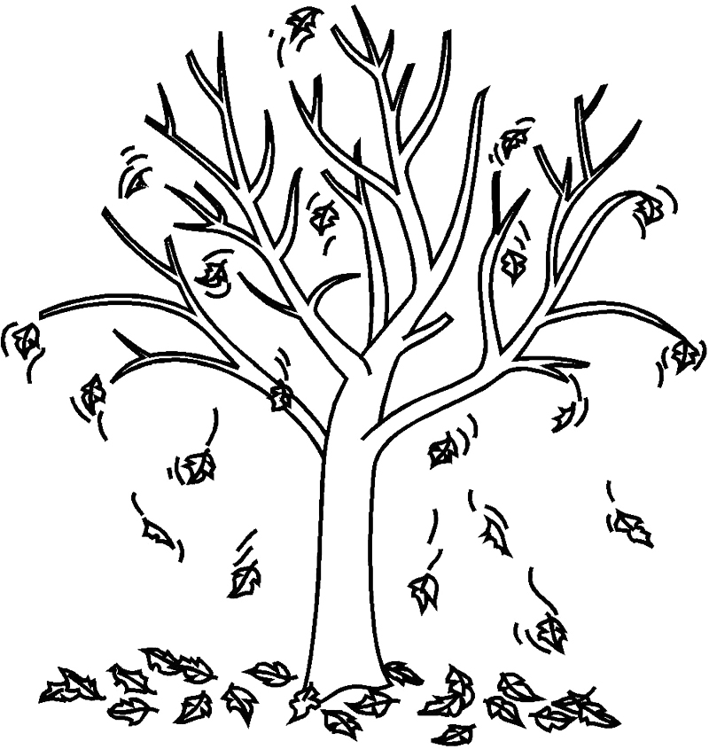 Fall in September Coloring Page