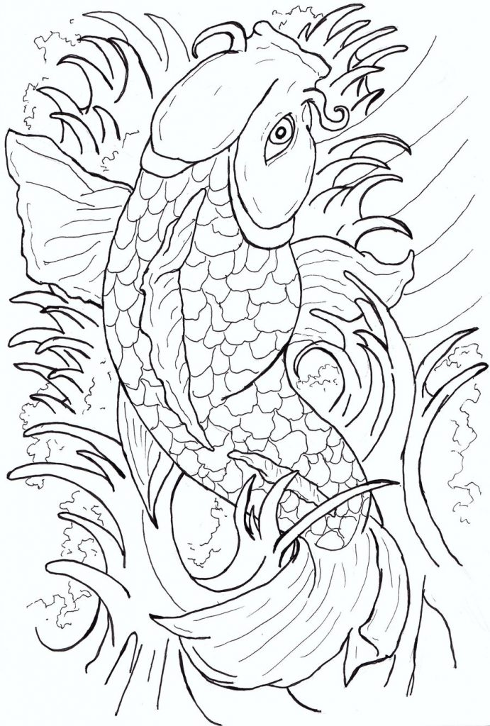 Fish Tattoo Coloring Pages