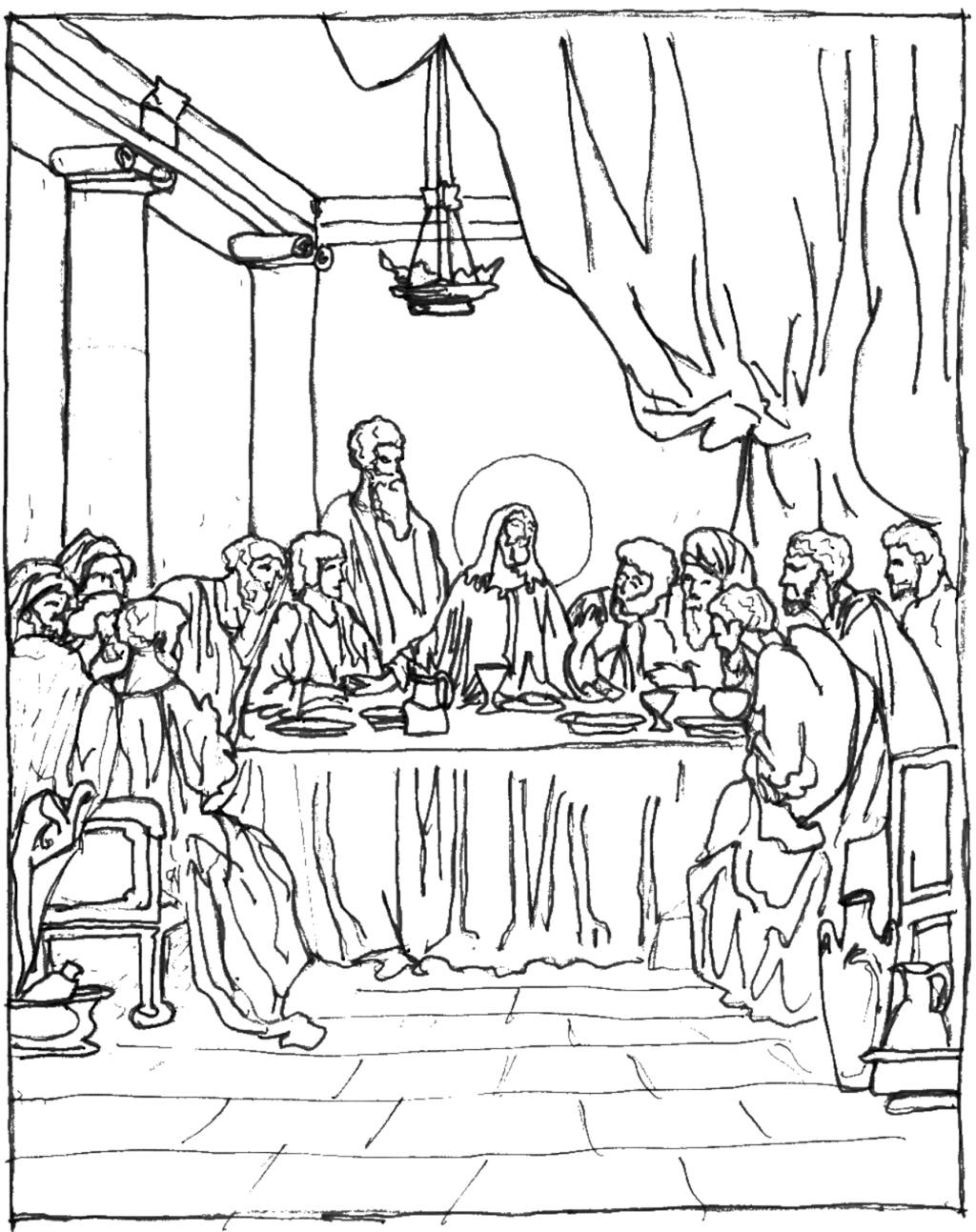 Last Supper Coloring Pages Best Coloring Pages For Kids