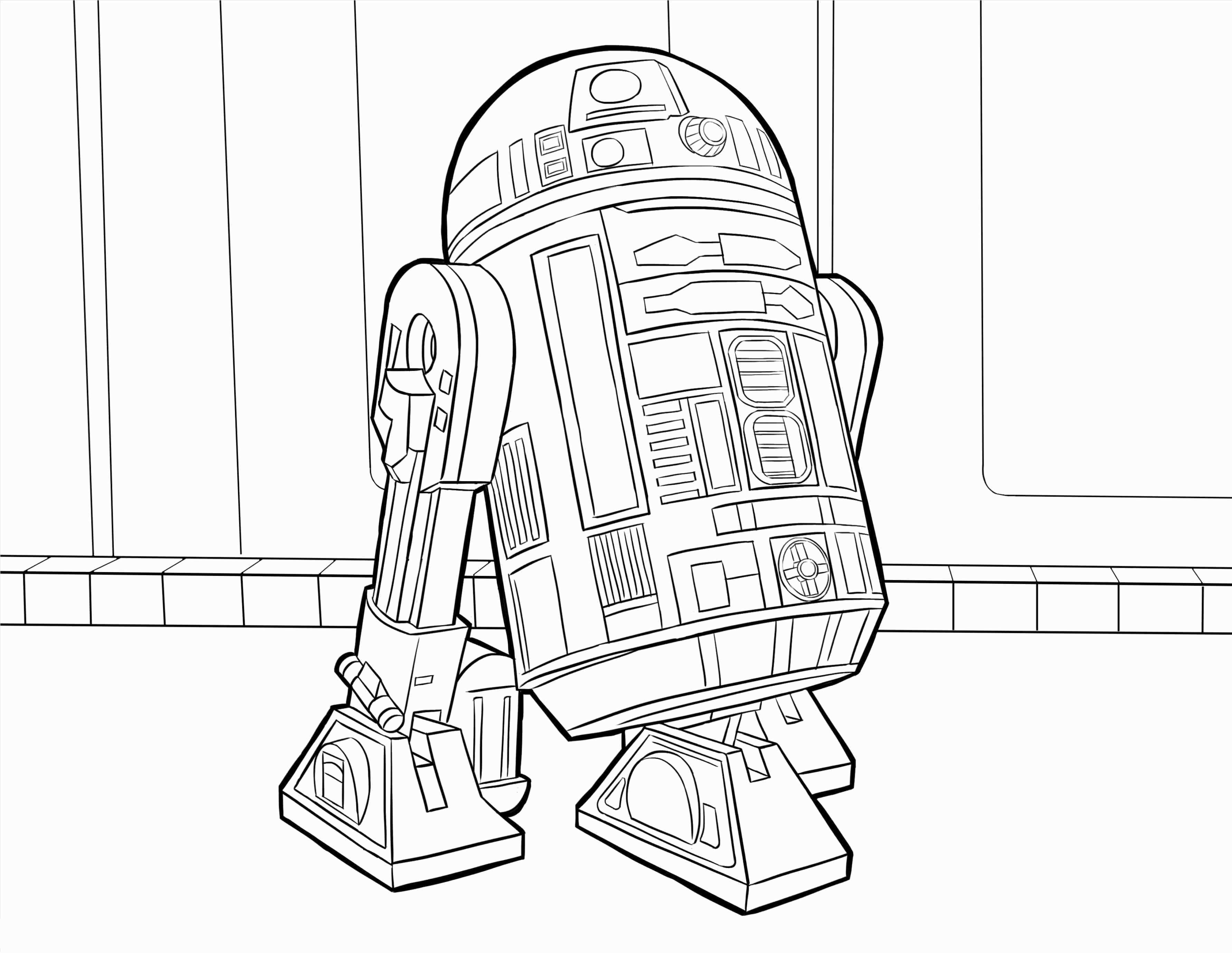 R2D2 Coloring Pages Best Coloring