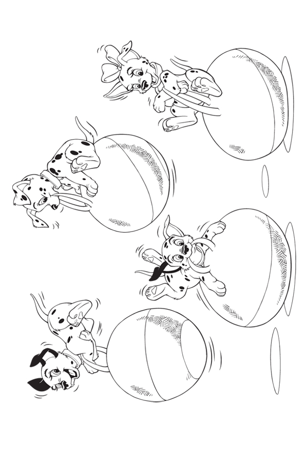 Fun 101 Dalmations Coloring Pages