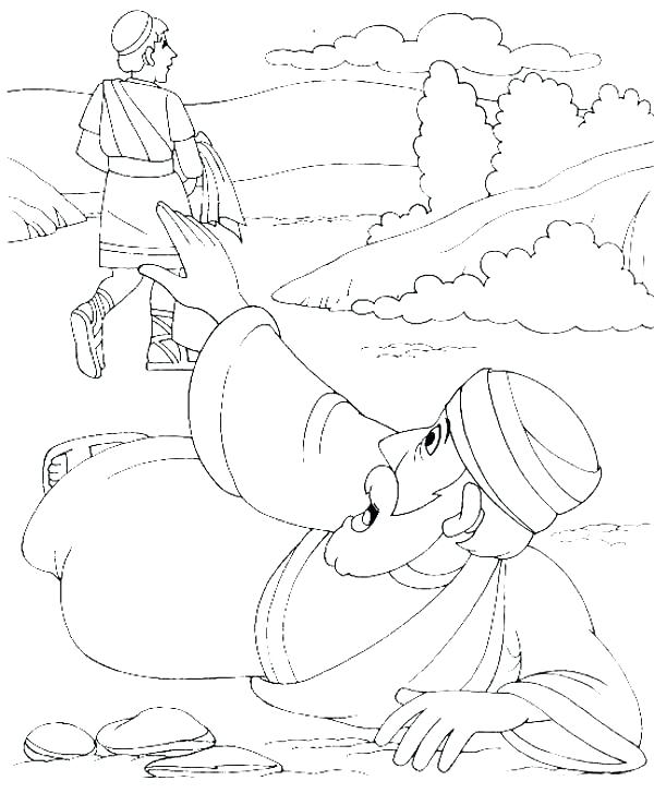 Good Samaritan Bible Story Coloring Pages