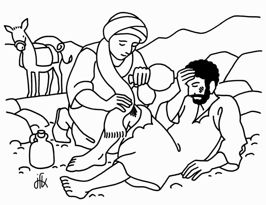 Good Samaritan Printable Coloring Pages
