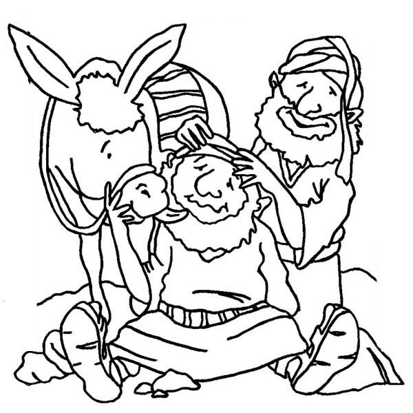 Good Samaritan Coloring Pages Bible