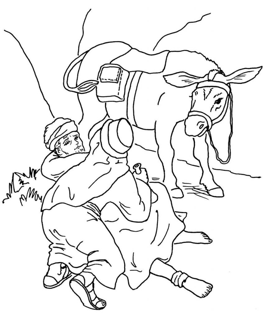 Good Samaritan Printable Coloring Page