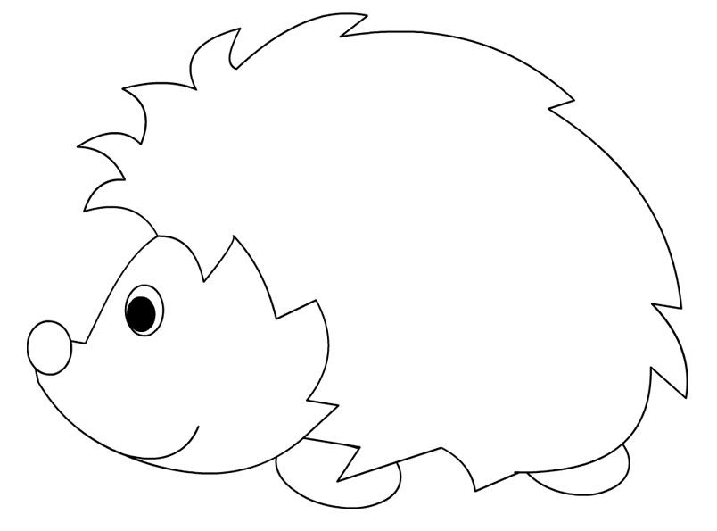 Hedgehog Lineart Coloring Pages