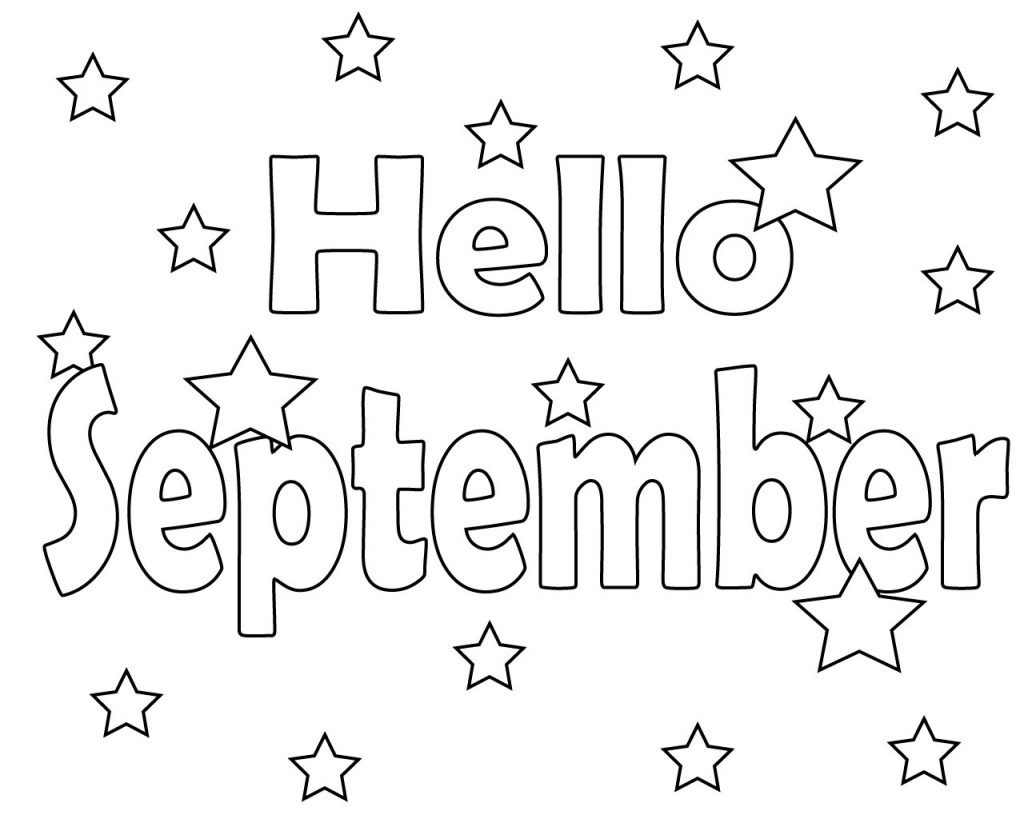 Hello September Coloring Pages