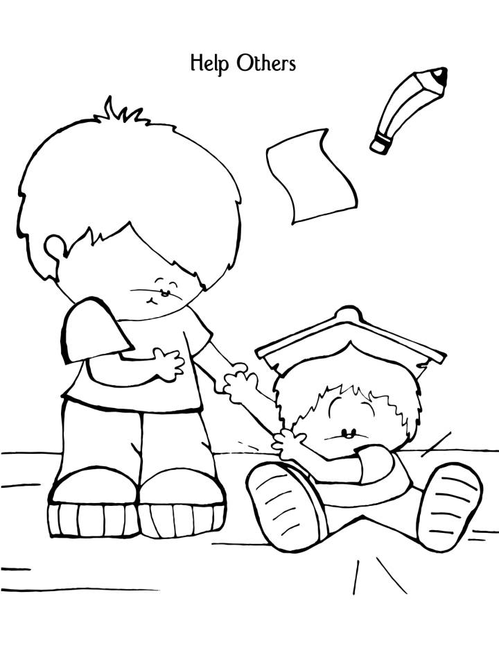 Help Others - Kindness Coloring Pages