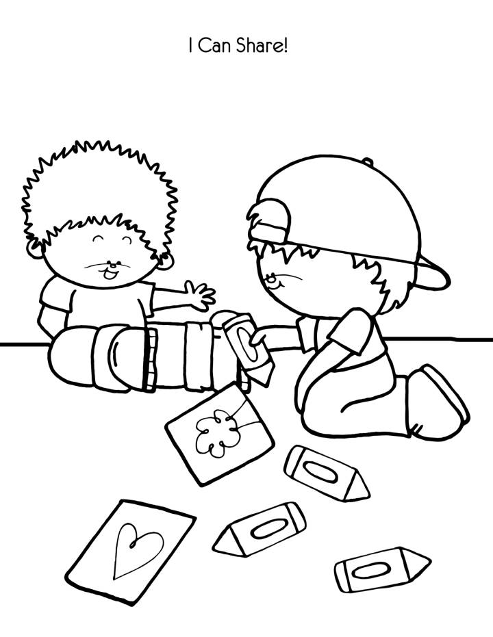 I Can Share - Kindness Coloring Pages for Kids