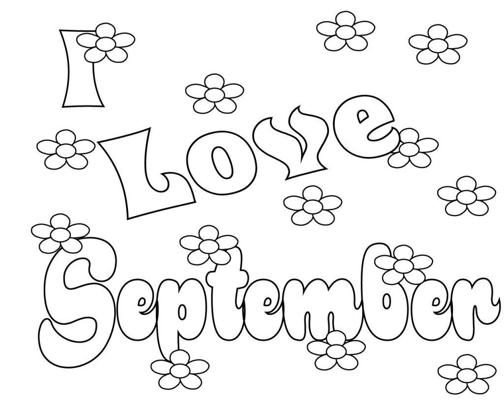I Love September Coloring Pages
