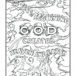 In the Beginning - Creation Coloring Pages