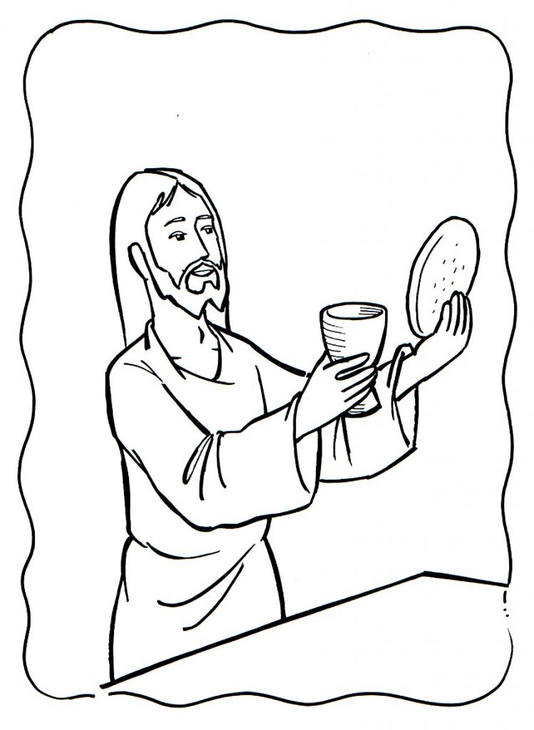 Jesus Blood and Body Last Supper Coloring Page
