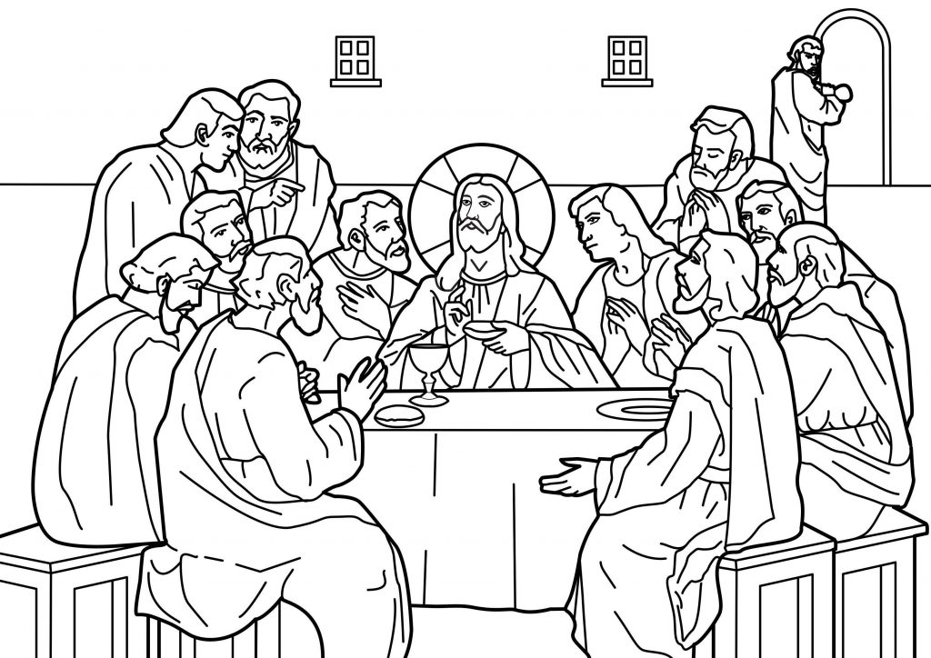 Jesus Last Supper Coloring Pages