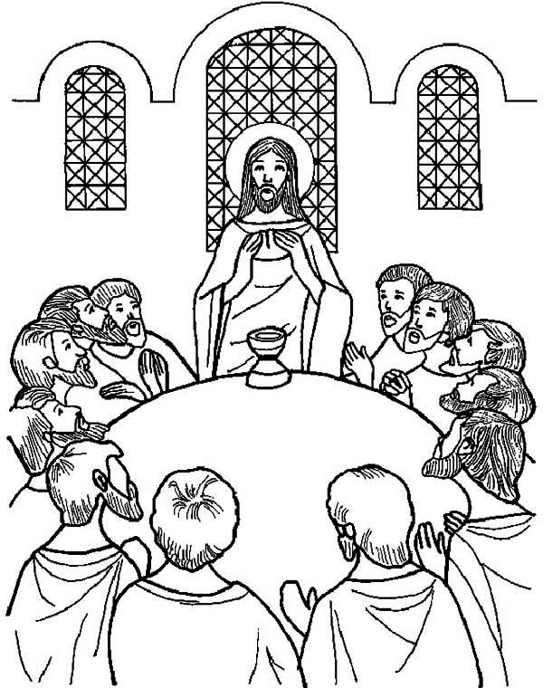 Jesus at the Last Supper Coloring Pages