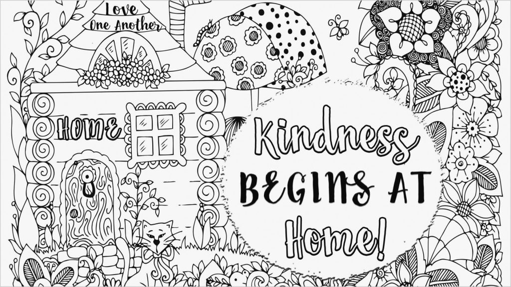 Kindness Begins at Home Coloring Page