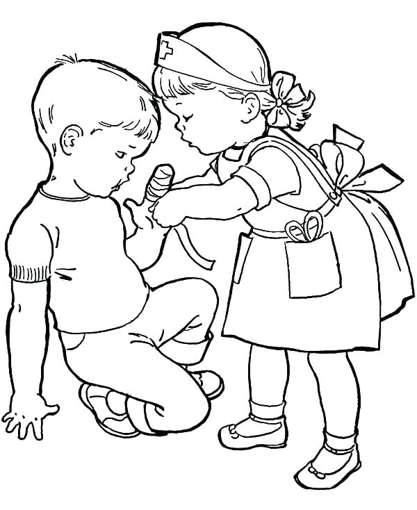 Kindness Printable Coloring Page
