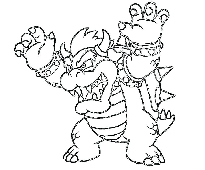 King Koopa Bowser Coloring Pages