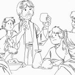 Last Supper Bible Coloring Pages