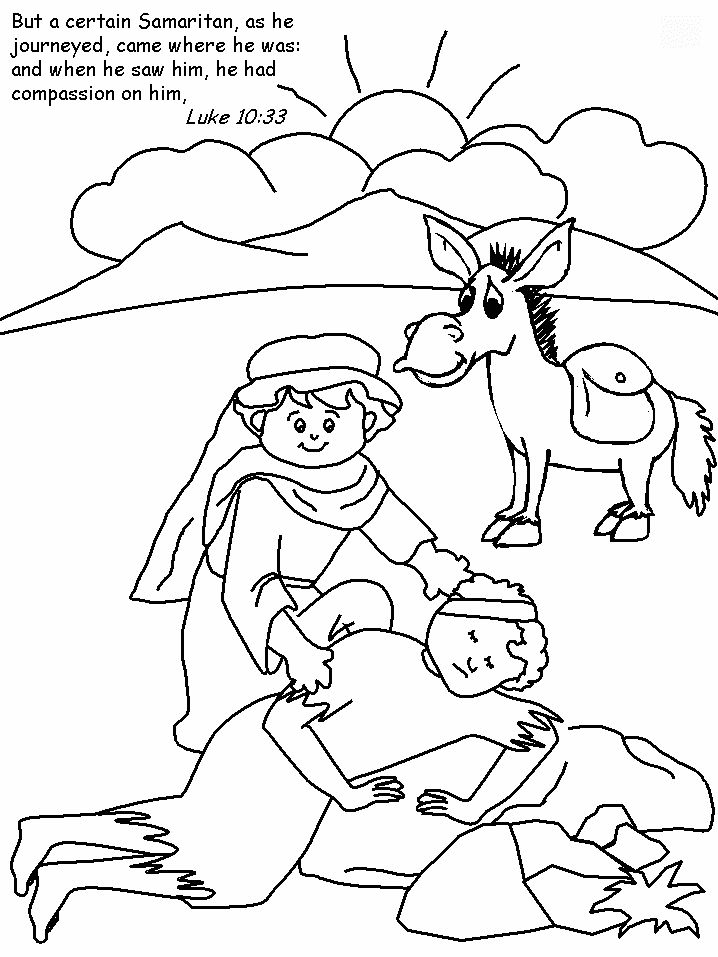 Luke- Good Samaritan Coloring Page