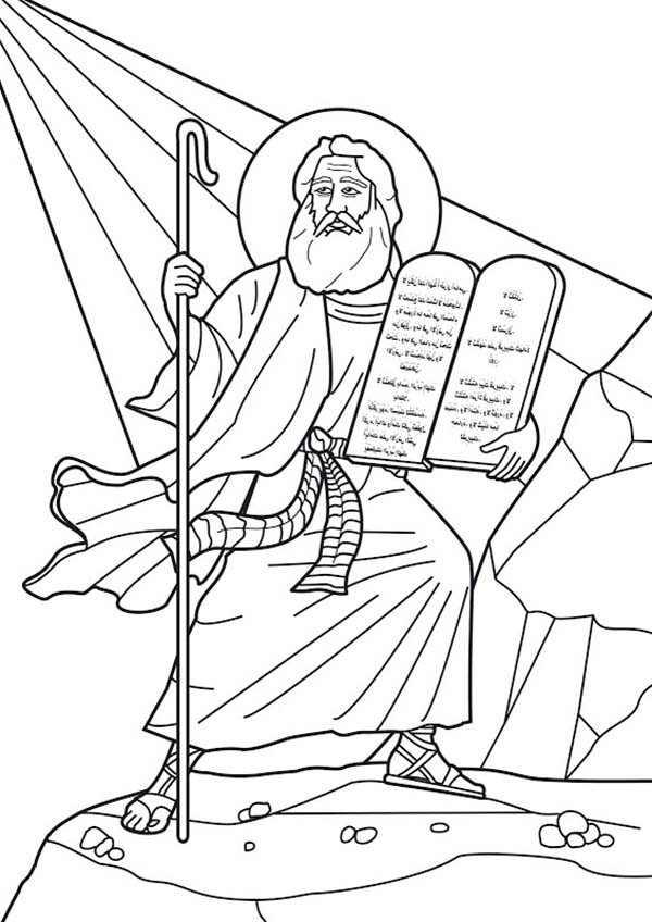Moses Commandments Printable Sheet
