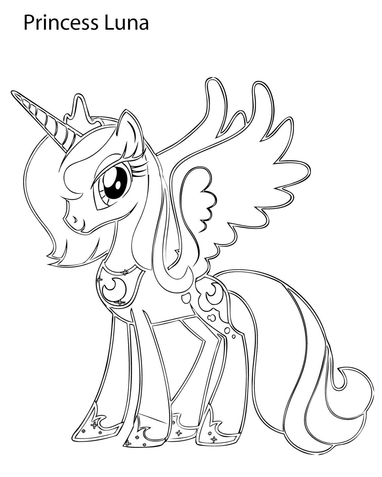 Princess Luna Coloring Pages Best Coloring Pages For Kids