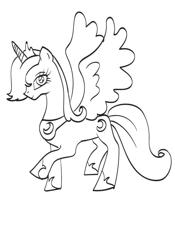 Princess Luna Coloring Pages
