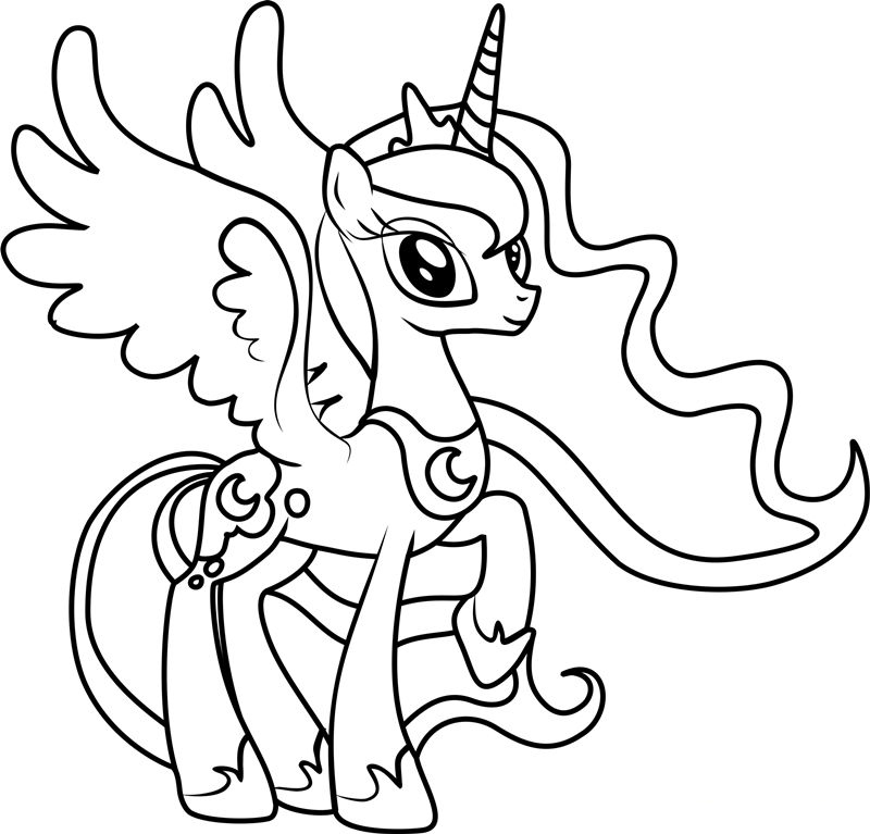 Princess Luna MLP Coloring Page