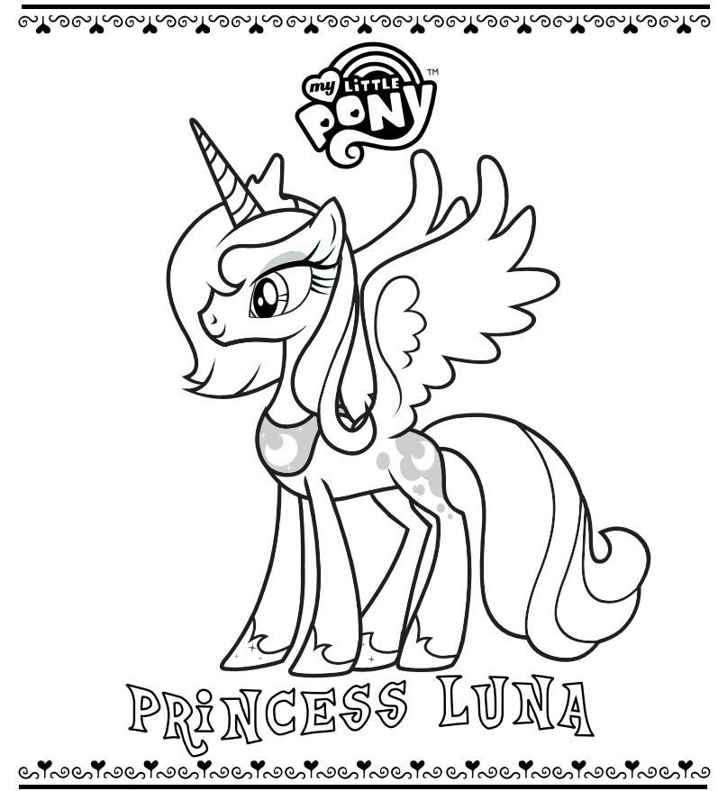 Princess Luna MLP Coloring Pages