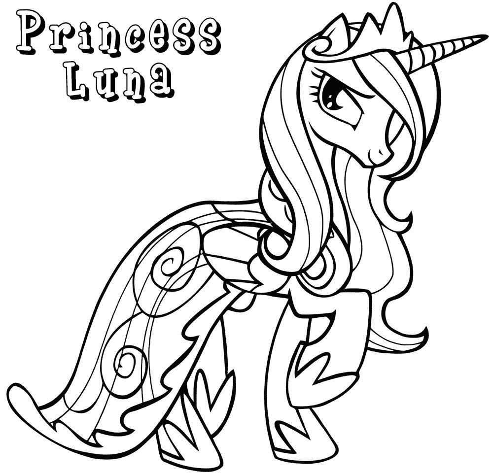 Princess Luna My Little Pony Coloring Pages