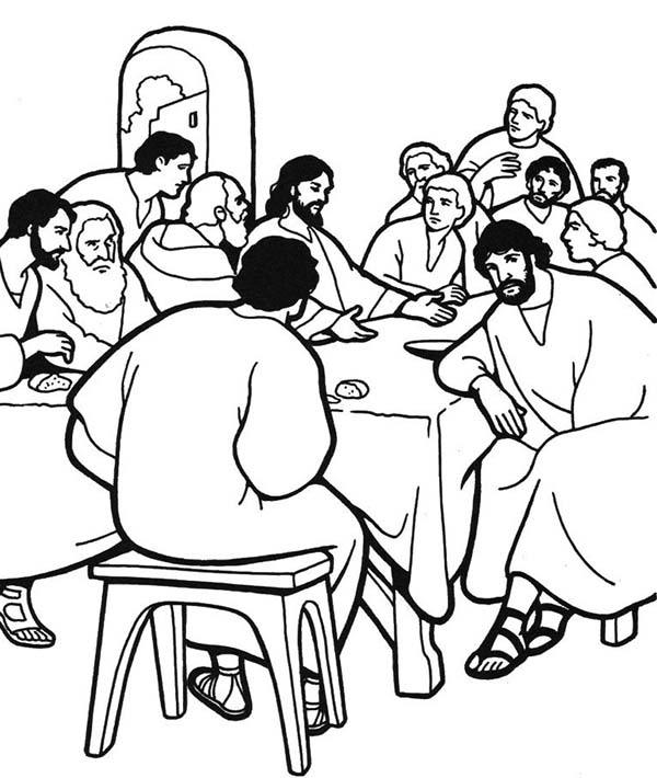 Print Last Supper Coloring Pages