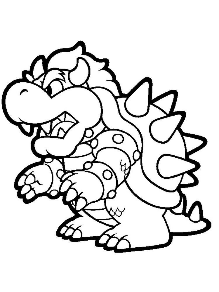 Printable Bowser Coloring Pages
