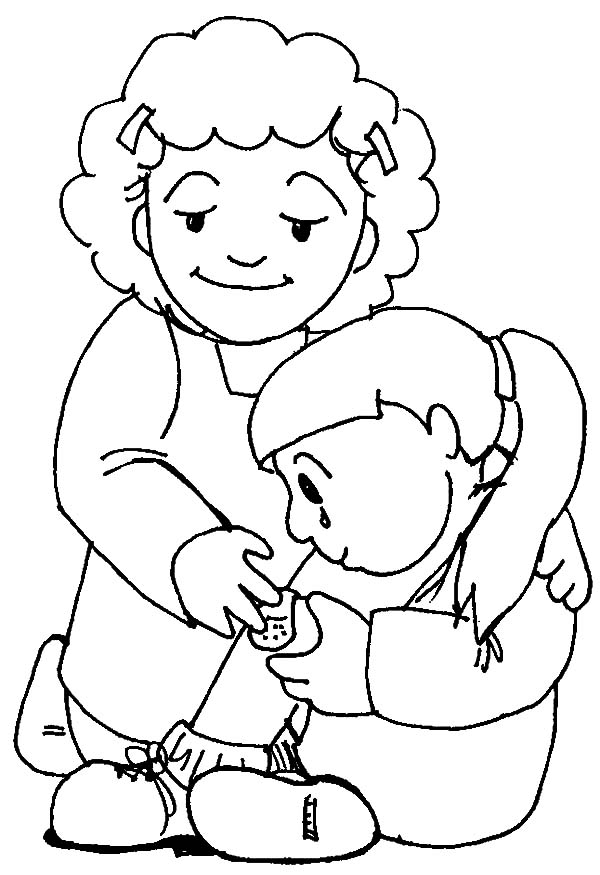 Printable Kindness Coloring Page