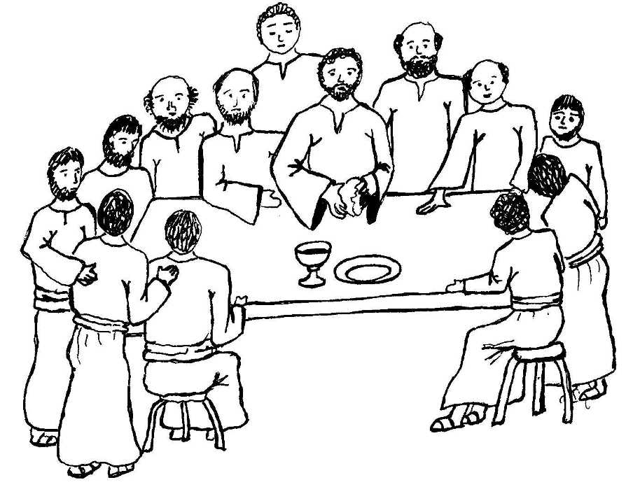Printable Last Supper Coloring Pages