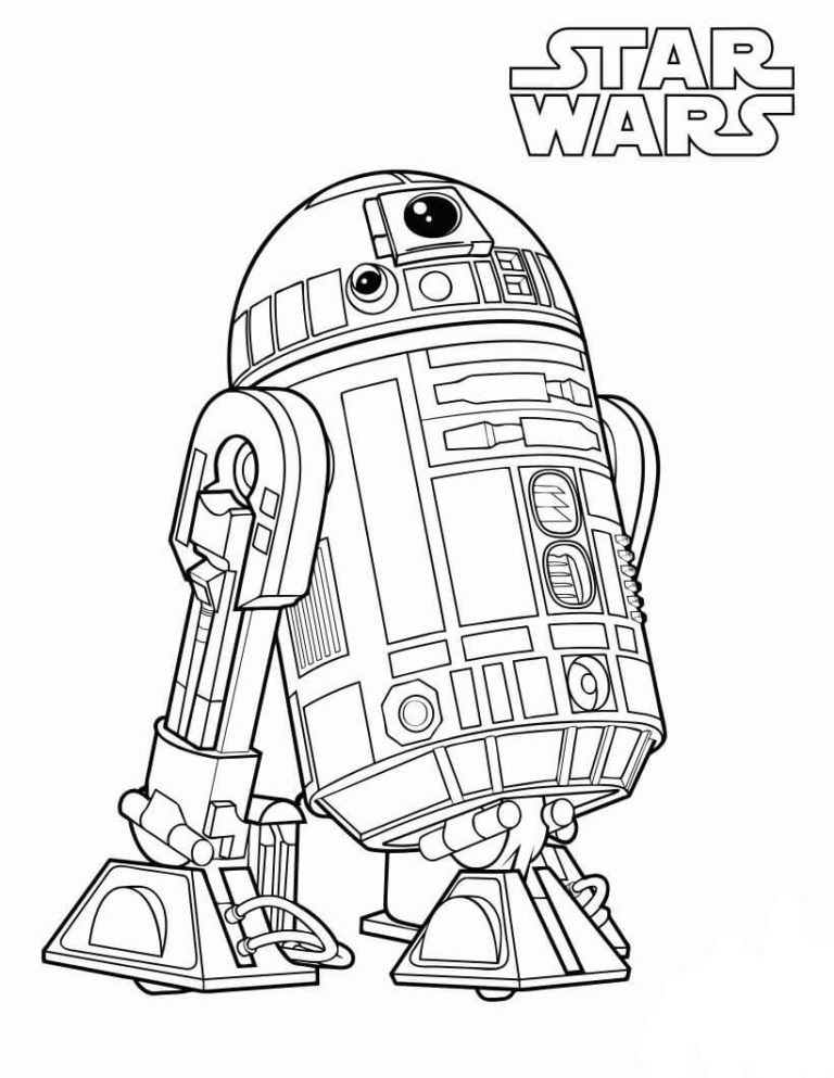 Printable R2D2 Coloring Pages
