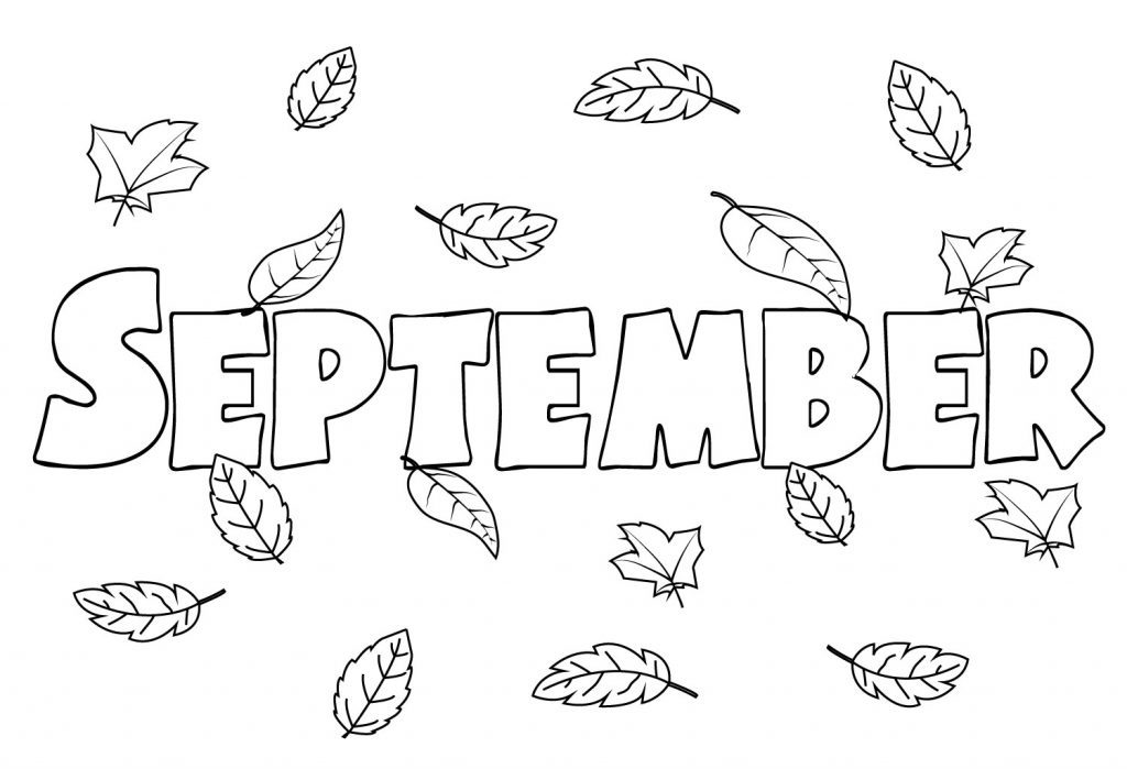 Printable September Coloring Pages