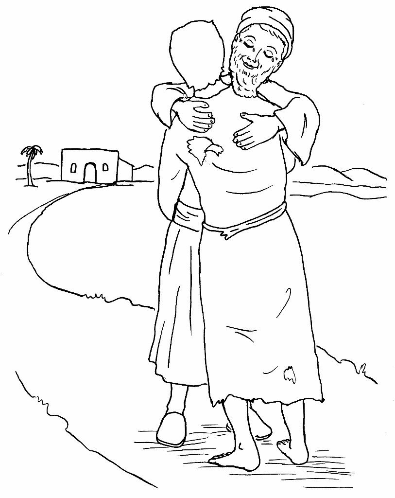 Prodigal Son Bible Coloring Pages