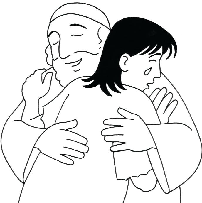 Prodigal Son Forgiven Coloring Pages
