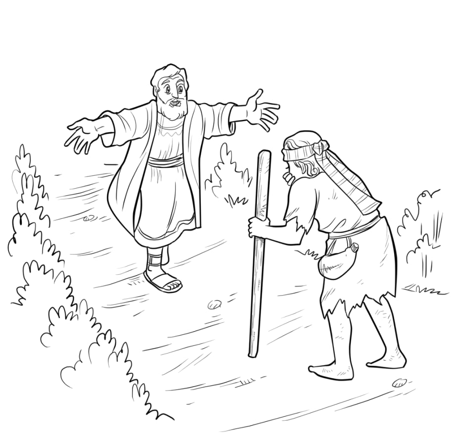 Prodigal Son Returns Coloring Pages