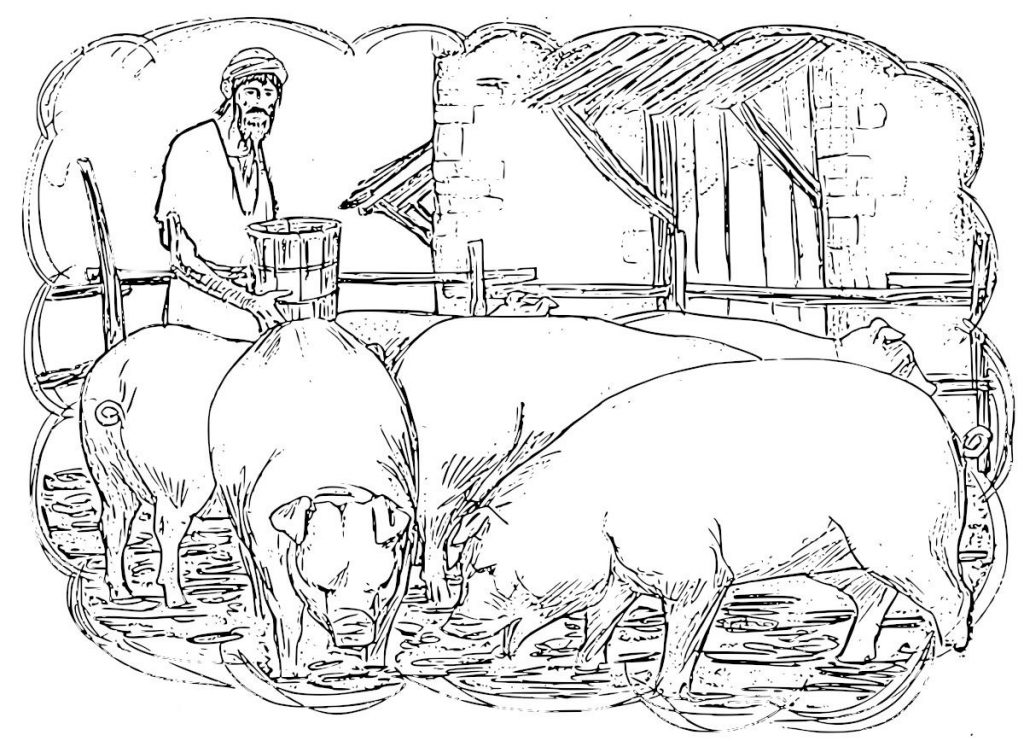 Prodigal Son Swine Coloring Pages