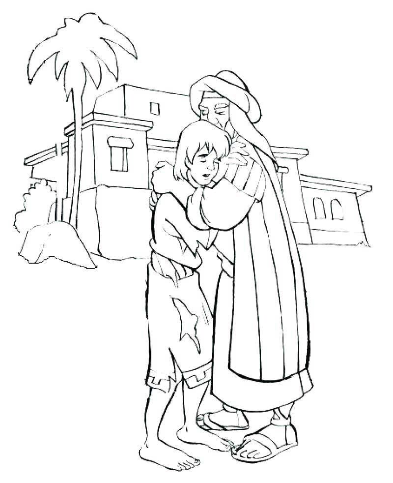 Prodigal Son Welcome Coloring Pages
