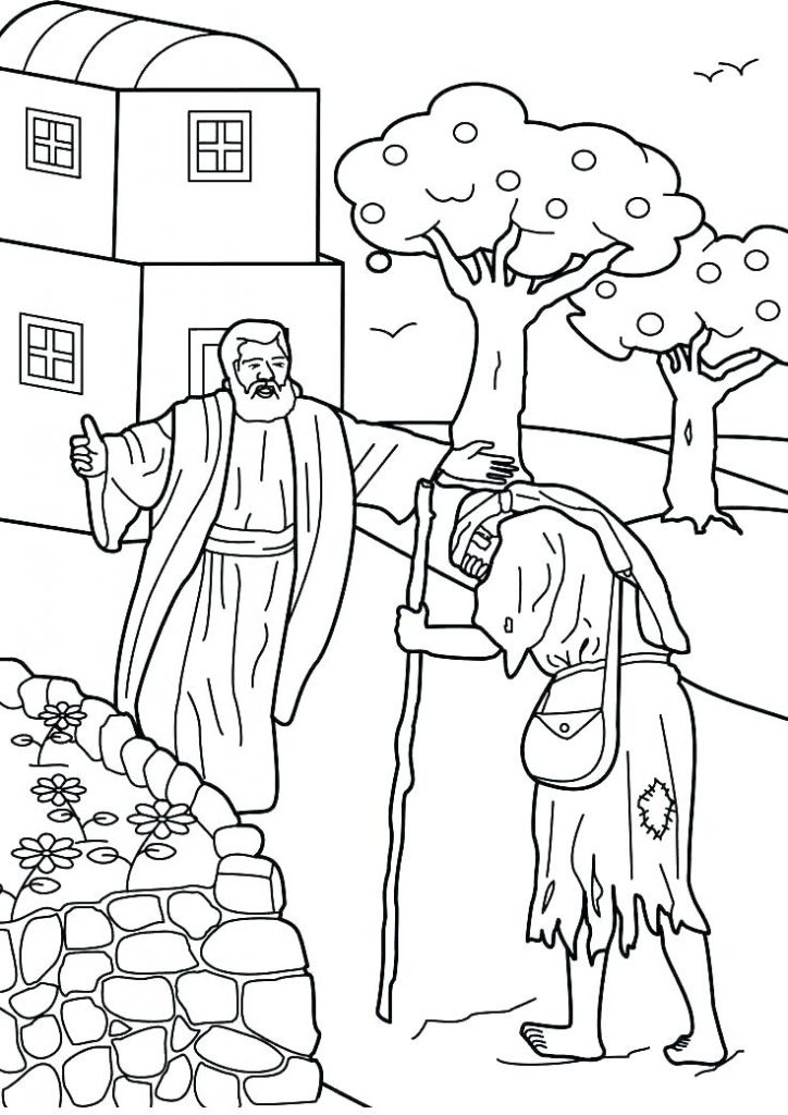 Prodigal Sons Welcome Home Coloring Page