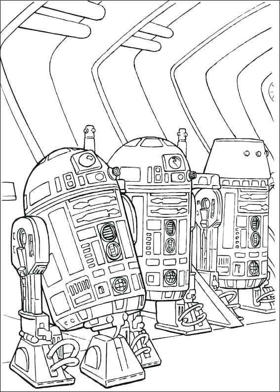 R2 Droids Coloring Page