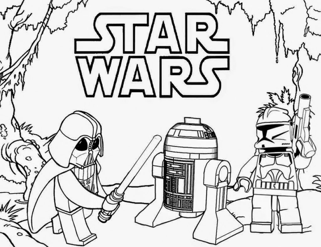 R2D2 Lego Coloring Page