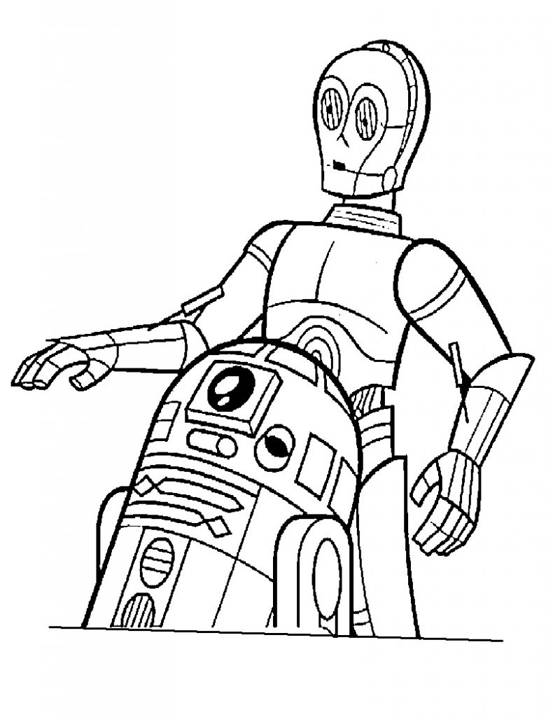 R2D2 Printable Coloring Page