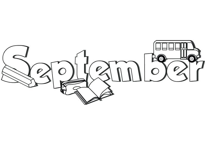 September School Coloring Pages