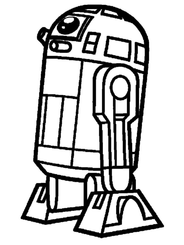 Simple R2D2 Coloring Page