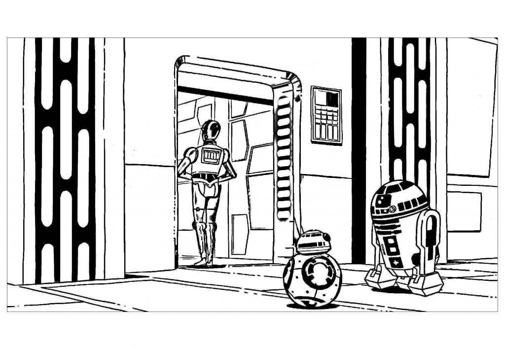 Star Wars Coloring Page R2D2