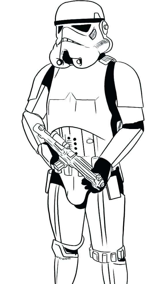 StarWars Stormtrooper Coloring Page